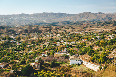 View from the Mijas village to Fuengirola town. Andalusia,  Cost